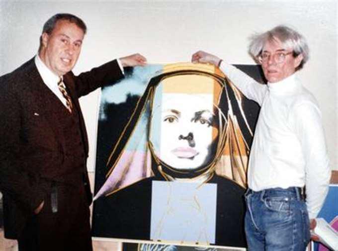 Per-Olov Börjeson med Andy Warhol